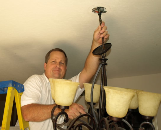 Newbury Park Lighting Electrical Contractor Hanging Chandelier