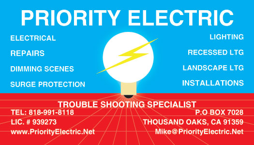 Newbury Park Lighting Business Card